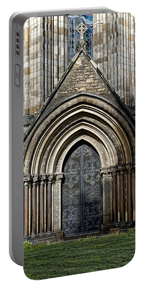 St Marys Cathedral Portable Battery Charger featuring the photograph Cathedral Side Door by Scott Hill