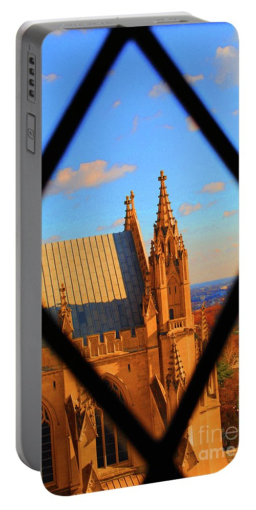 Washington Portable Battery Charger featuring the photograph Cathedral Sky by Jost Houk