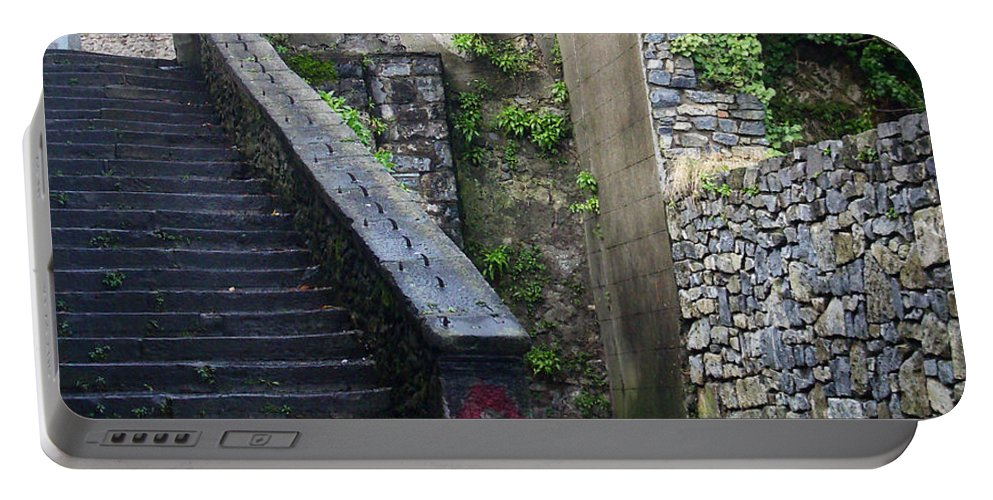 Stairs Portable Battery Charger featuring the photograph Cathedral Stairs by Tim Nyberg