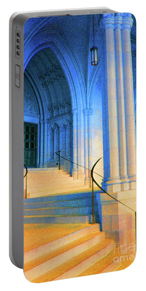 Washington Portable Battery Charger featuring the photograph Cathedral Steps by Jost Houk