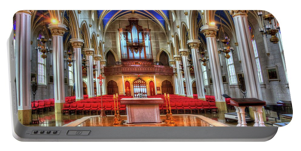 Royal Portable Battery Charger featuring the photograph Cathedrial Assumption by FineArtRoyal Joshua Mimbs
