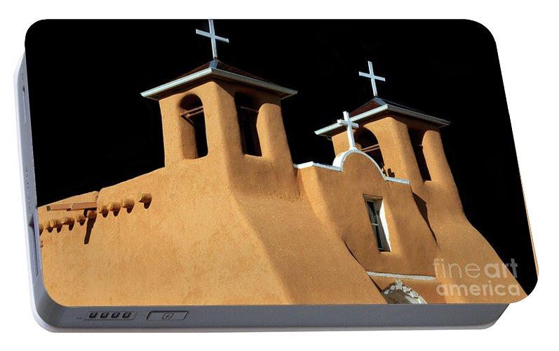 San Francisco De Asis Portable Battery Charger featuring the photograph St Francis De Assi Church New Mexico by Bob Christopher