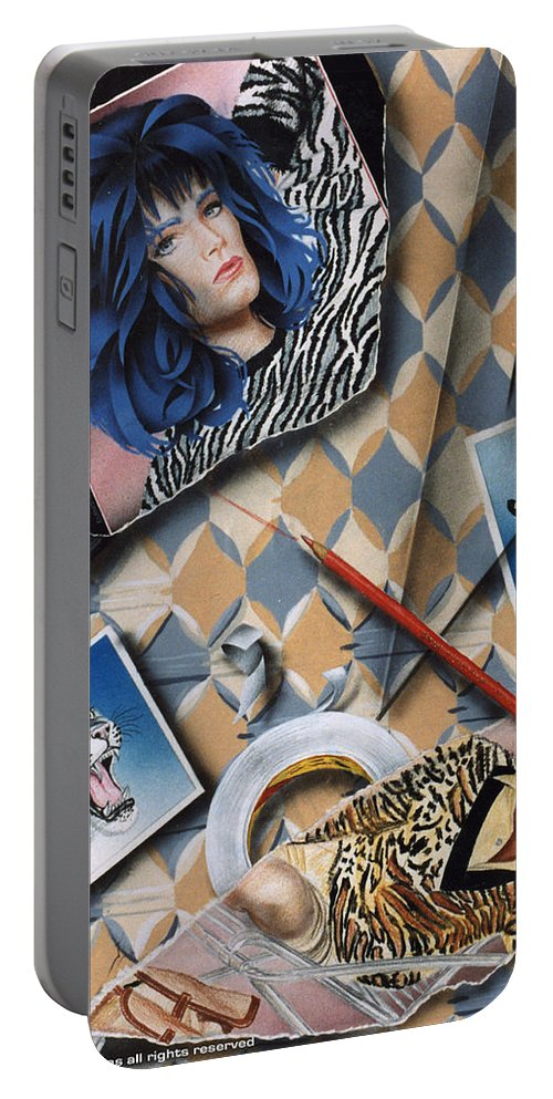 Cats Portable Battery Charger featuring the painting Cats by Shaun McNicholas