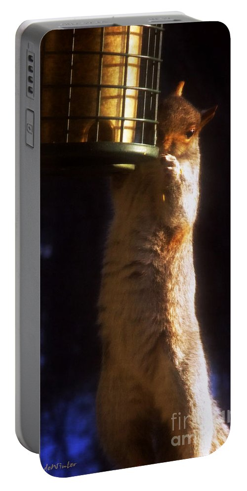 Squirrel Portable Battery Charger featuring the photograph Caught Red-handed by RC DeWinter