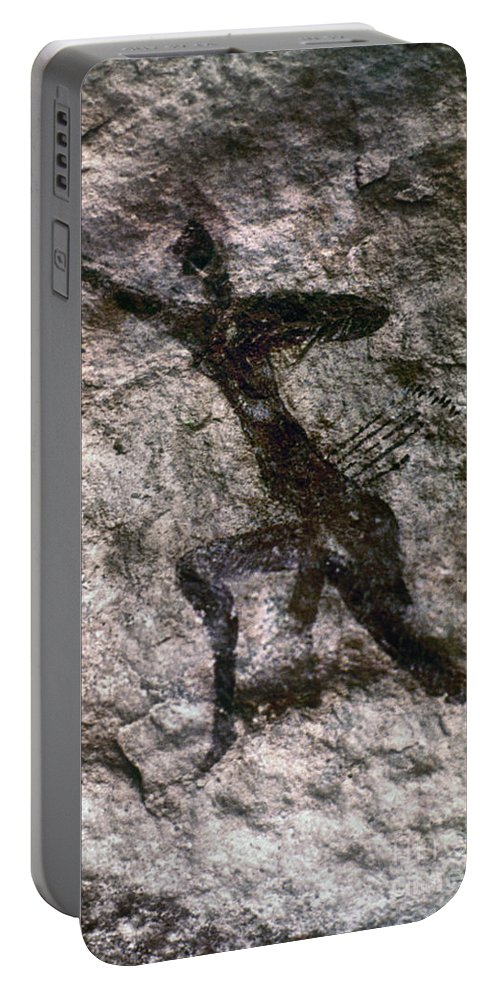 African Portable Battery Charger featuring the photograph Cave Art, Algeria by Granger