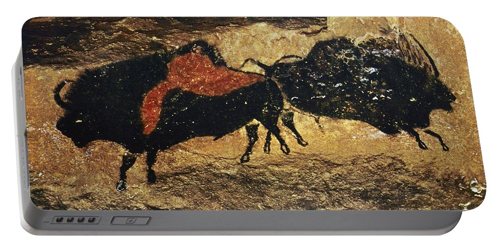 15000 Portable Battery Charger featuring the photograph Cave Art: Bison by Granger