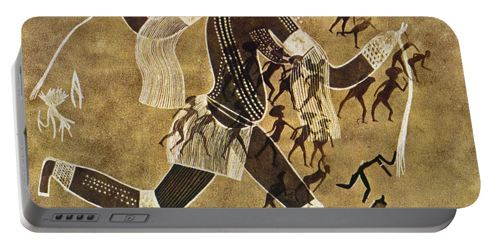 African Portable Battery Charger featuring the photograph Cave Art by Granger