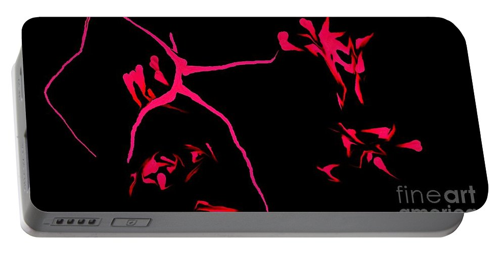 Abstract Portable Battery Charger featuring the digital art Cave Drawings by David Lane