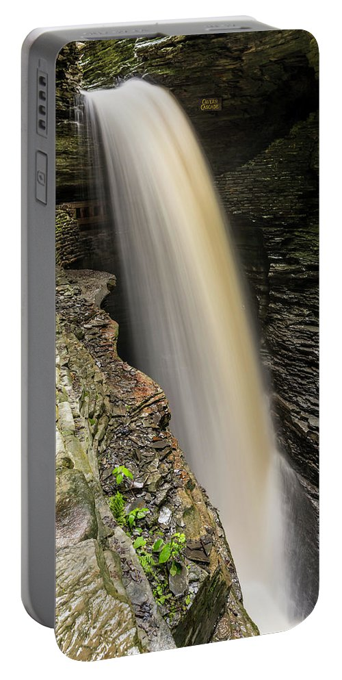 Watkin Glen Portable Battery Charger featuring the photograph Cavern Cascade by Daniel Kelly