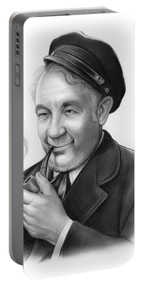 Cecil Kellaway Portable Battery Charger featuring the drawing Cecil Kellaway by Greg Joens