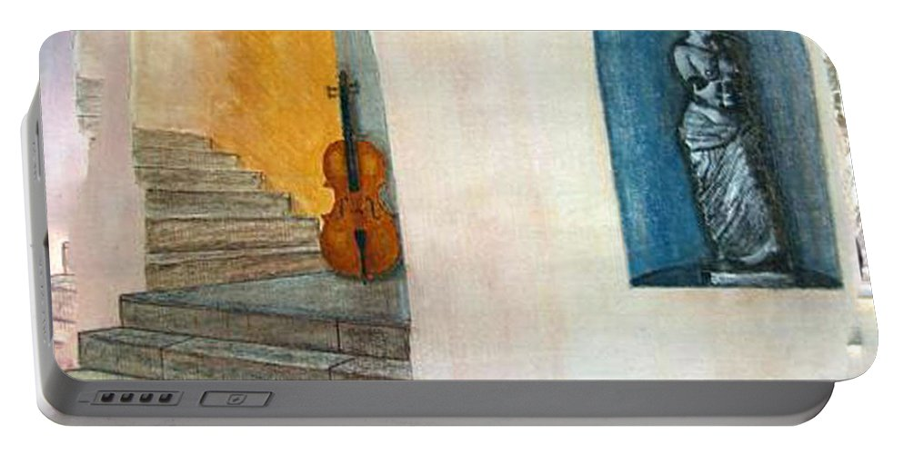 Cello Portable Battery Charger featuring the painting Cello No 2 by Richard Le Page
