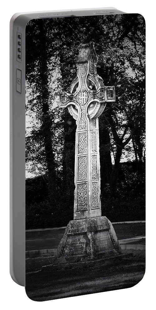 Irish Portable Battery Charger featuring the photograph Celtic Cross In Killarney Ireland by Teresa Mucha