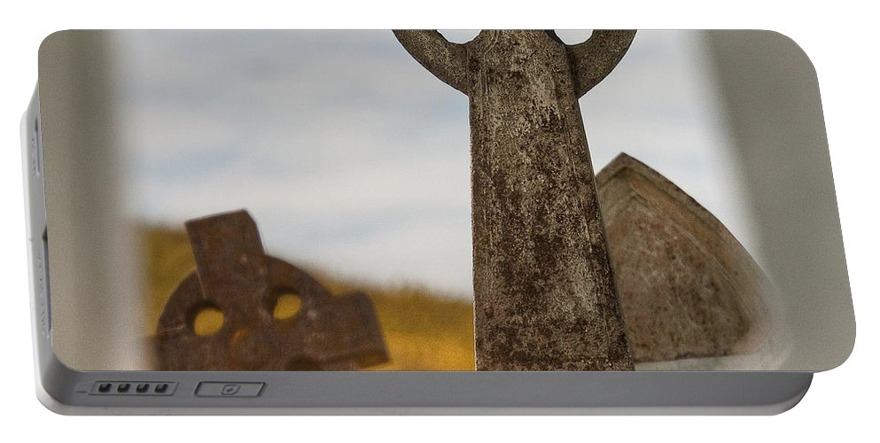 Celtic Cross Portable Battery Charger featuring the photograph Celtic Crosses by Colette Panaioti