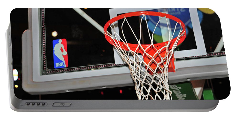 Sport Portable Battery Charger featuring the photograph Celtics' Net by Mike Martin