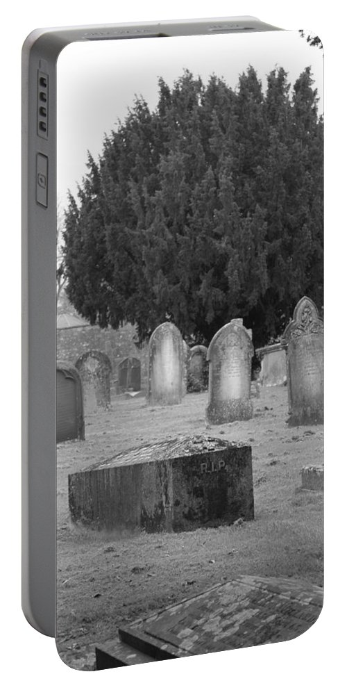 Cemetery Portable Battery Charger featuring the photograph Cemetery Church Of St. Mary Wedmore by Lauri Novak