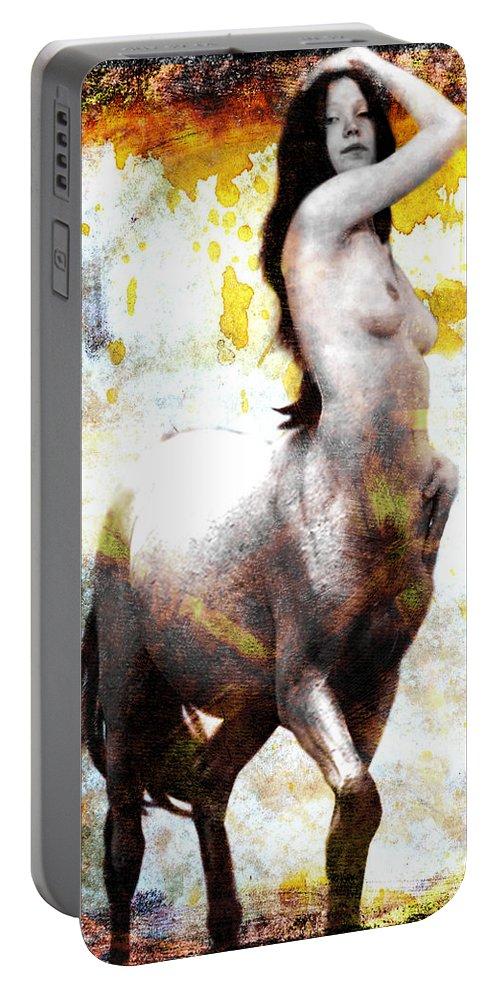 Centaur Portable Battery Charger featuring the digital art Centaur by John Constantine