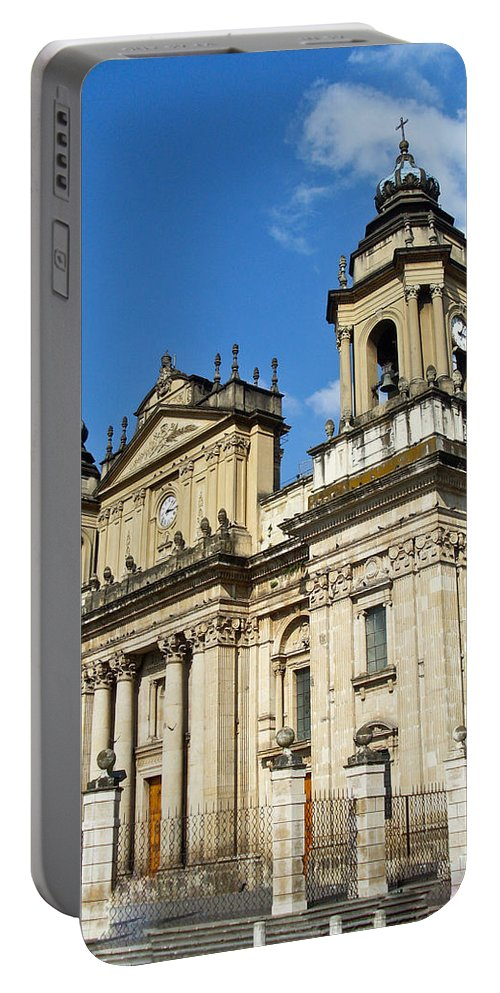 Central Portable Battery Charger featuring the photograph Central Church Guatemala City 1 by Douglas Barnett