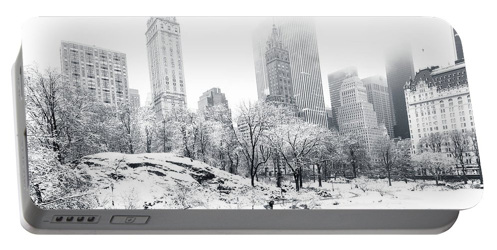 America Portable Battery Charger featuring the photograph Central Park by Mihai Andritoiu