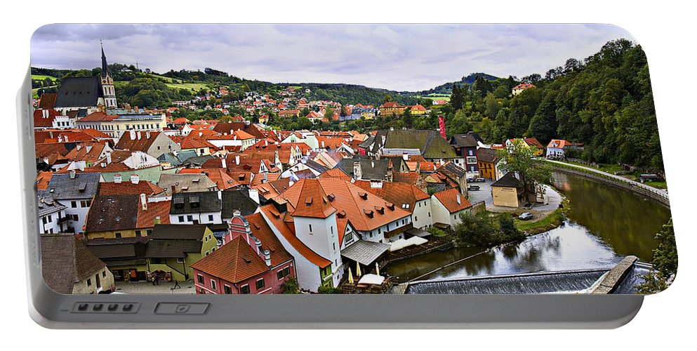 Cesky Portable Battery Charger featuring the photograph Cesky Krumlov Overview 2 by Madeline Ellis