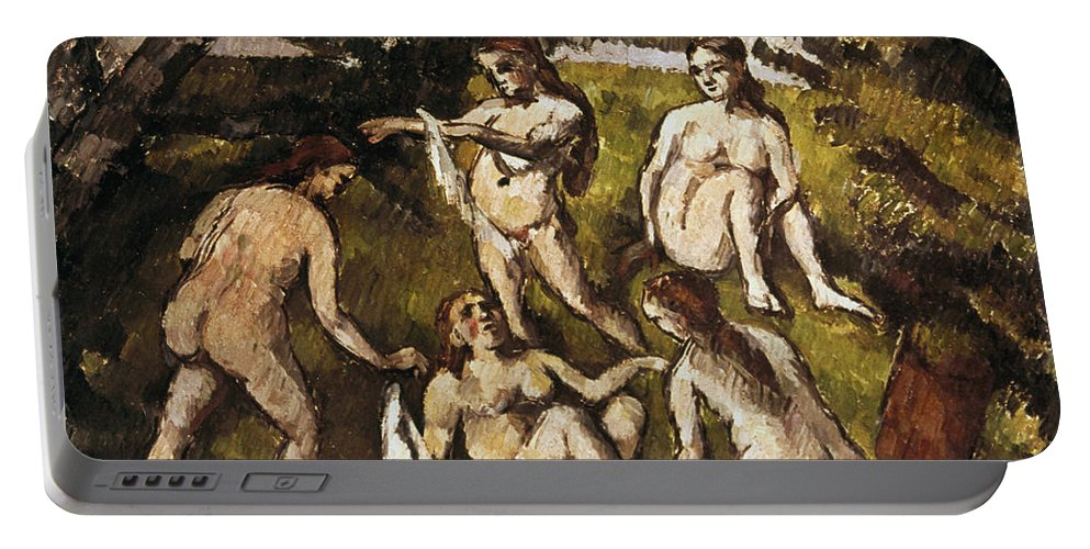 19th Century Portable Battery Charger featuring the photograph Cezanne: Five Bathers by Granger