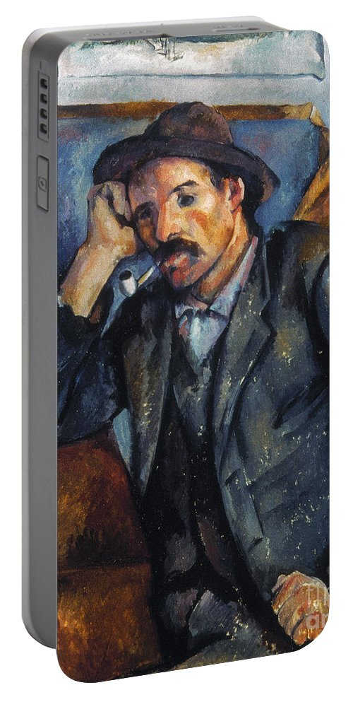 1900 Portable Battery Charger featuring the photograph Cezanne: Pipe Smoker, 1900 by Granger