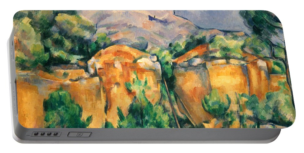1898 Portable Battery Charger featuring the photograph Cezanne: Sainte-victoire by Granger