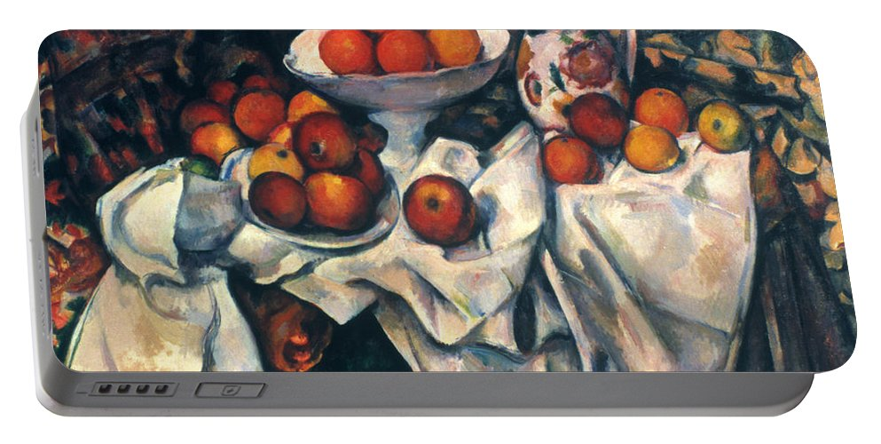 1890s Portable Battery Charger featuring the photograph Cezanne: Still Life, C1899 by Granger