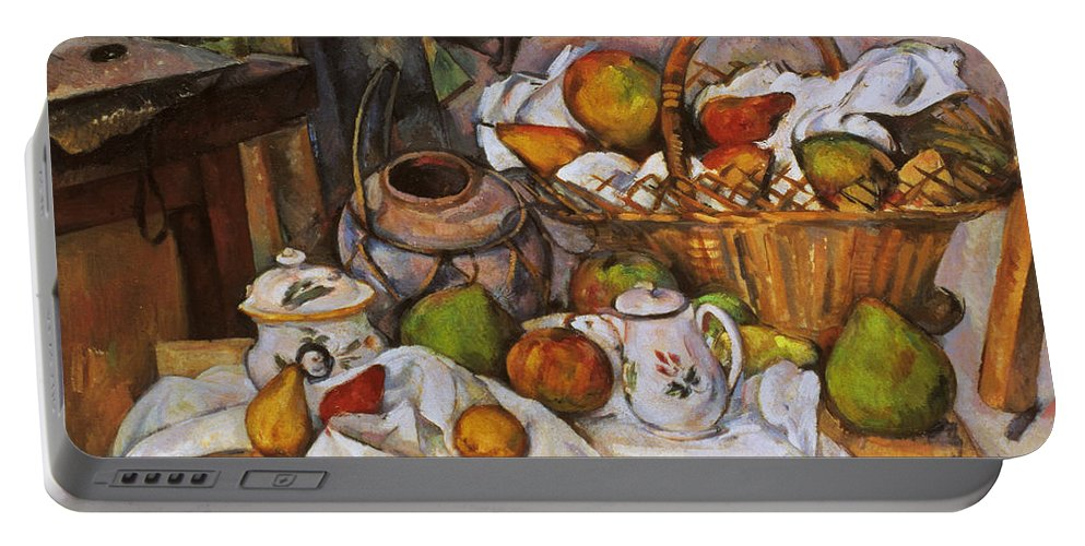 1890 Portable Battery Charger featuring the photograph Cezanne: Table, 1888-90 by Granger