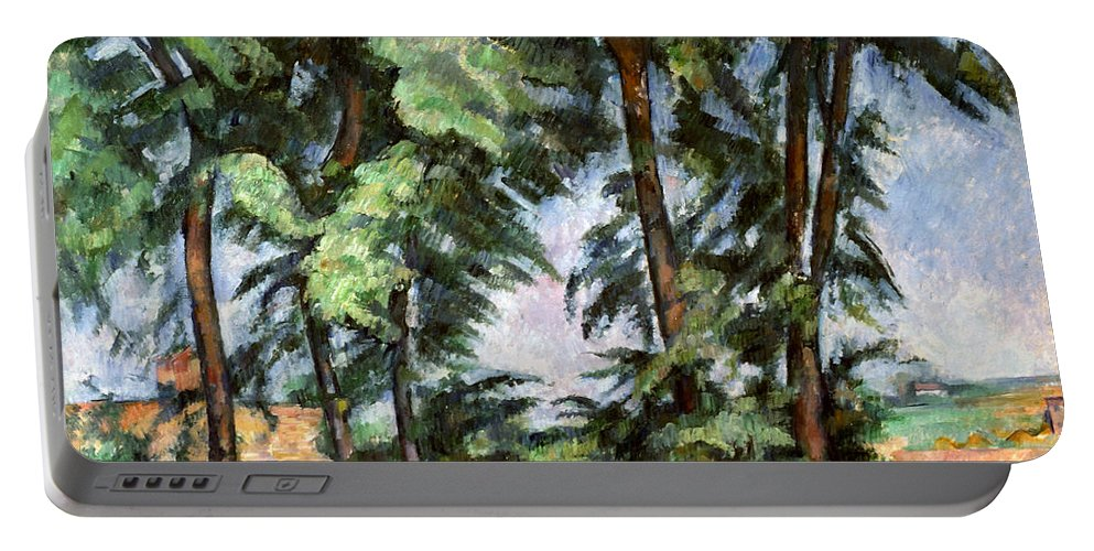 1887 Portable Battery Charger featuring the photograph Cezanne: Trees, C1885-87 by Granger