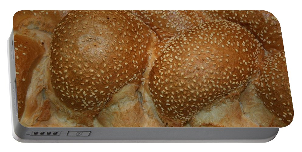 Challah Portable Battery Charger featuring the photograph Challah Bread by Eliyahu Shear