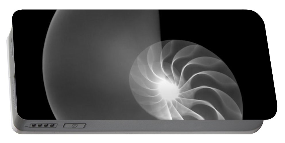 Xray Portable Battery Charger featuring the photograph Chambered Nautilus Shell by Ted Kinsman