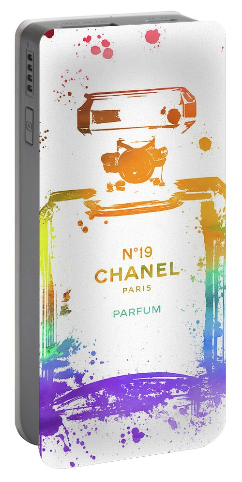 Chanel Number Nineteen Paint Portable Battery Charger featuring the painting Chanel Number Nineteen by Dan Sproul