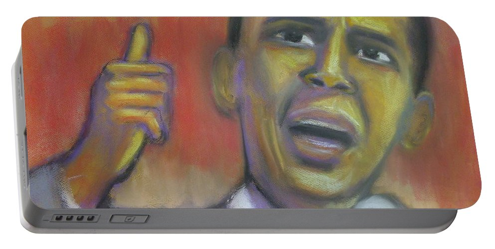 African American Portable Battery Charger featuring the drawing Change Is Coming by Jan Gilmore