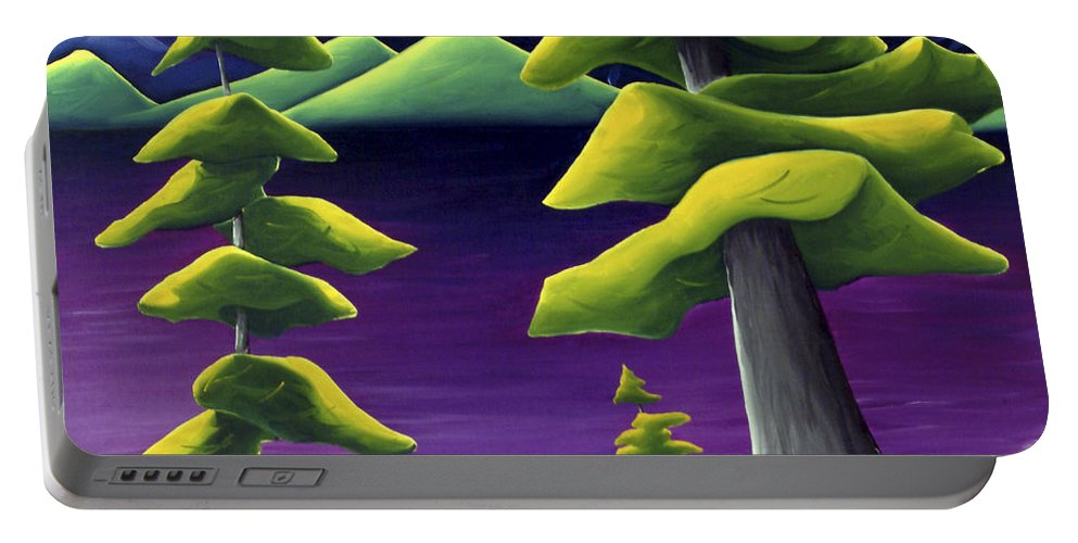 Landscape Portable Battery Charger featuring the painting Change Of Pace by Richard Hoedl