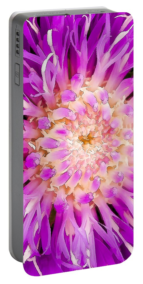 Flower Portable Battery Charger featuring the digital art Chantilly Lace by Janet Fikar