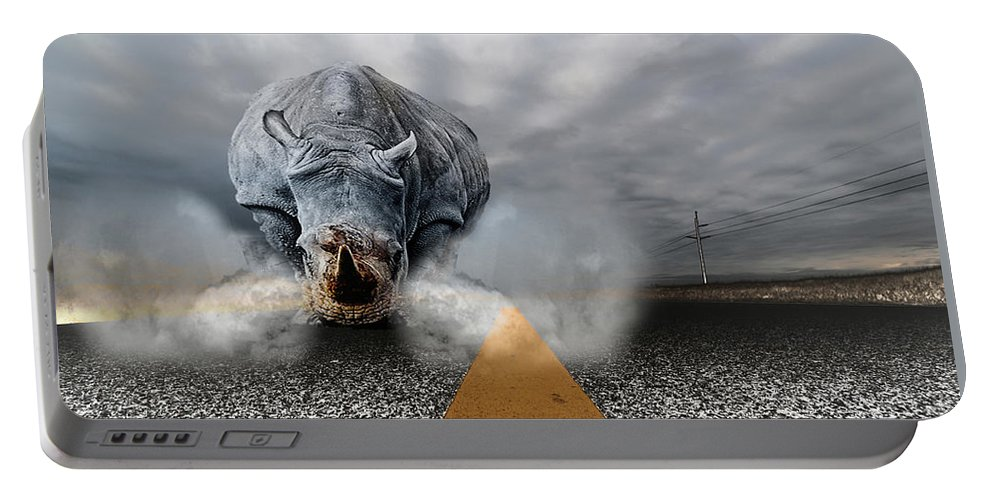 Chaos Artwork Photoshop Portable Battery Charger featuring the digital art Chaos by Alex Grichenko