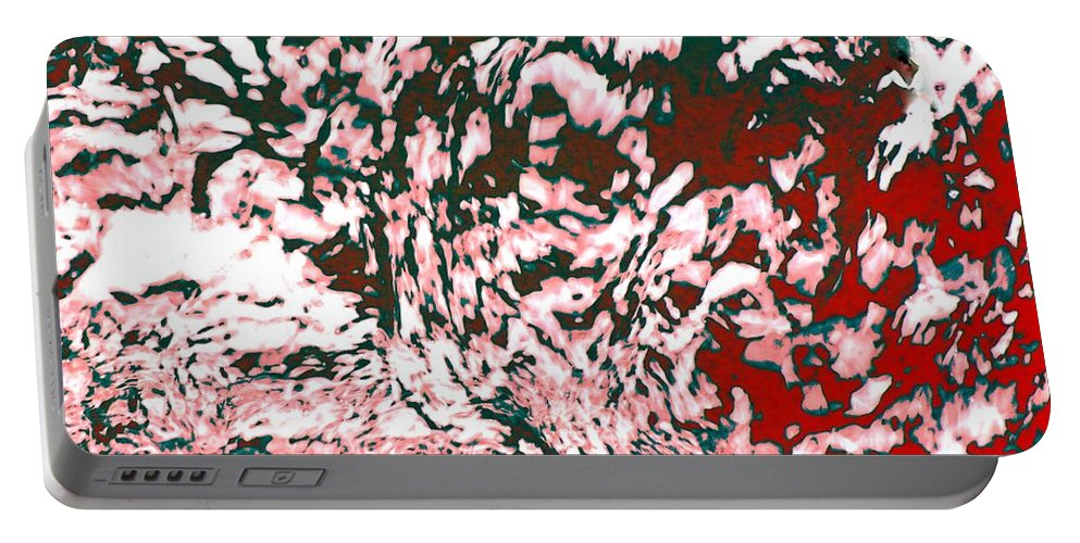 Abstract Portable Battery Charger featuring the photograph Chaos 1 - Call Of Faith by Sybil Staples