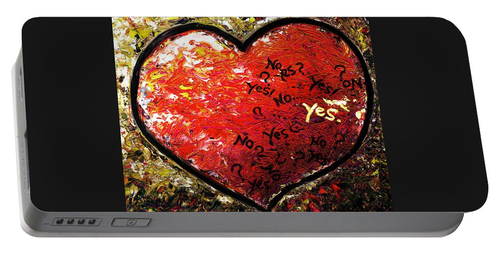 Pop Portable Battery Charger featuring the painting Chaos In Heart by Hiroko Sakai