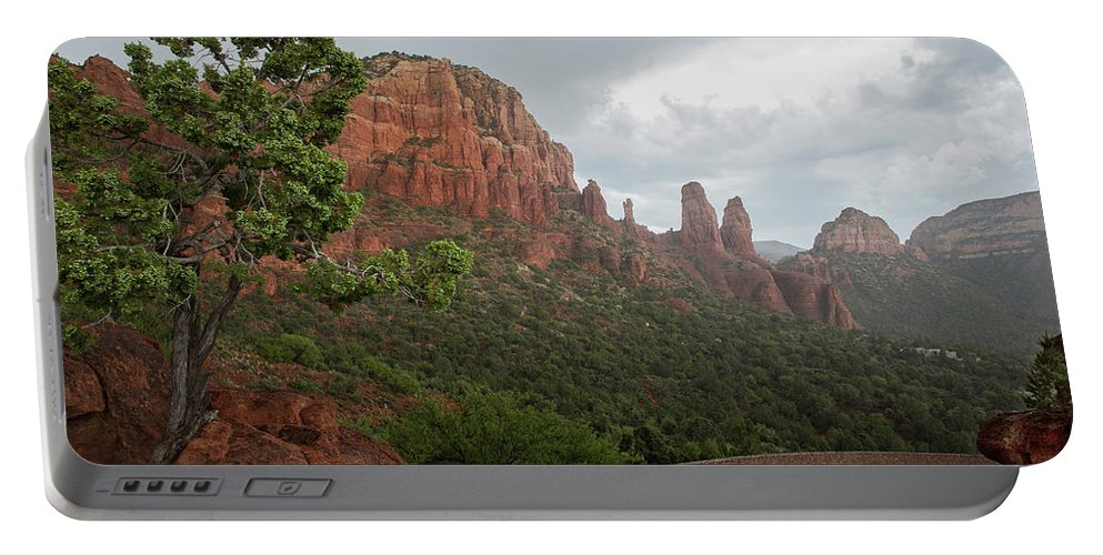 #sedonaarizona #landscapephotography #landscape #arizonalandscape Portable Battery Charger featuring the photograph Chapel Of The Holy Cross by Lisa McClung