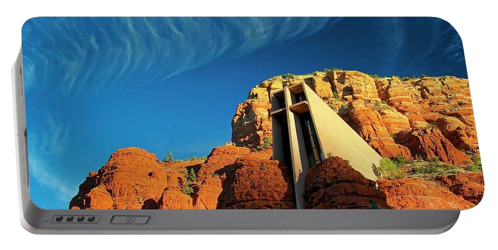 Chapel Of The Holy Cross Portable Battery Charger featuring the photograph Chapel Of The Holy Cross, Sedona, Arizona by Flying Z Photography by Zayne Diamond