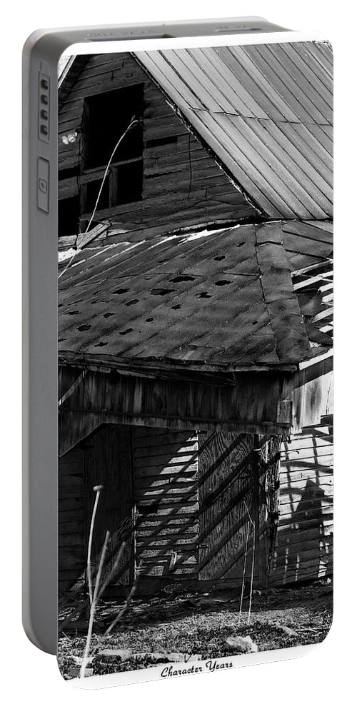 Barn Portable Battery Charger featuring the photograph Character Years by Betsy Knapp