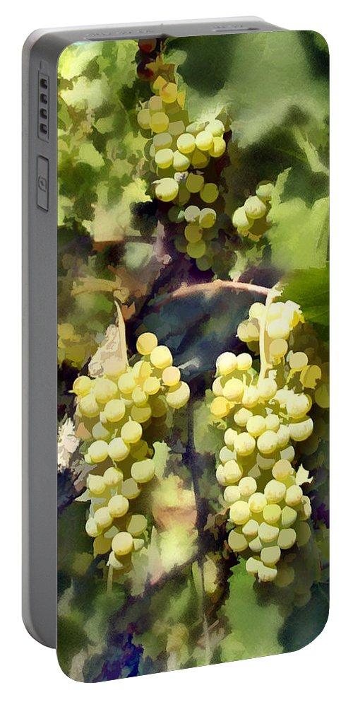 Chardonnay Portable Battery Charger featuring the photograph Chardonnay by Kurt Van Wagner