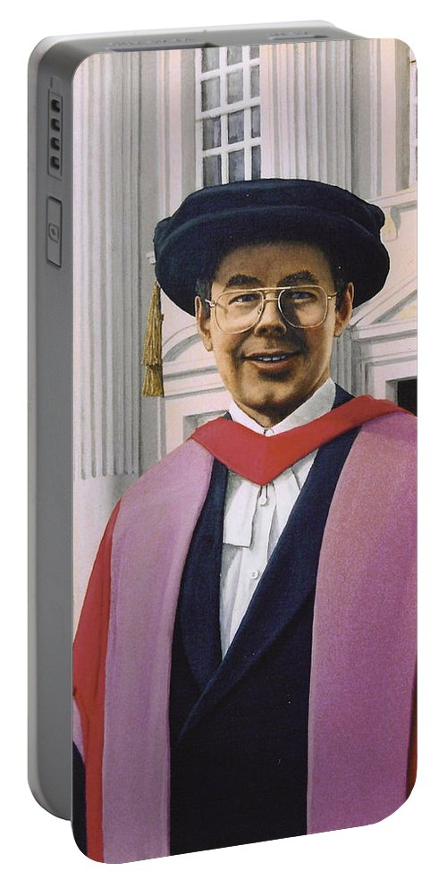 Portrait Portable Battery Charger featuring the painting Charles Harpum Receiving Doctorate Of Law by Richard Harpum