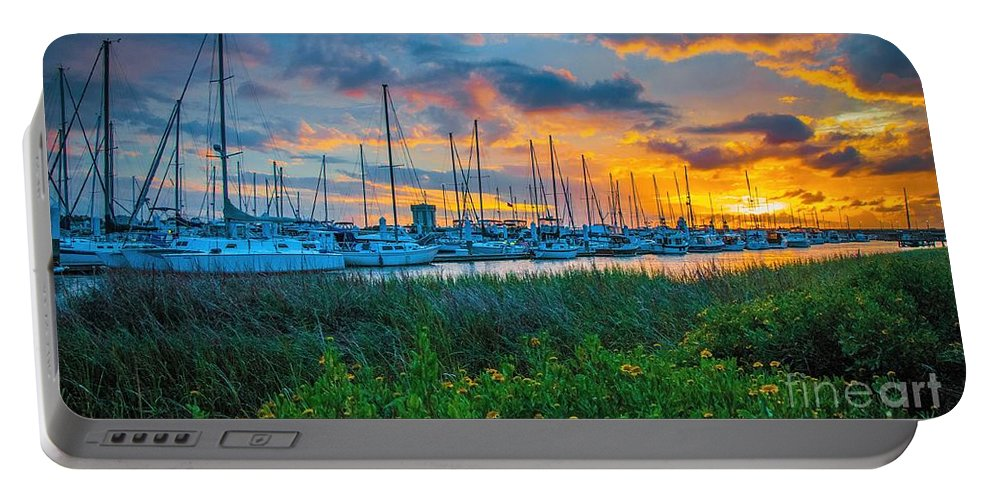 Charleston Portable Battery Charger featuring the photograph Charleston Marina by Yvette Wilson