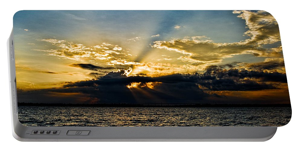Sunset Portable Battery Charger featuring the photograph Charleston Sunset by Christopher Holmes