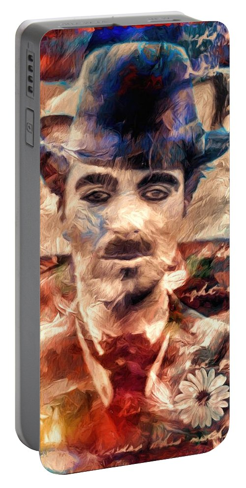 Charlot Portable Battery Charger featuring the photograph Charlot Colors And Poems by Daniel Arrhakis