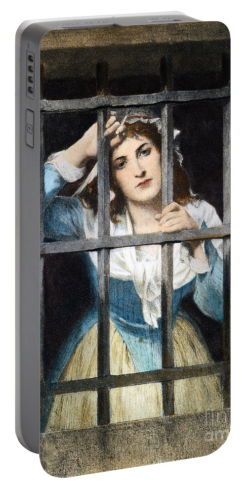 18th Century Portable Battery Charger featuring the photograph Charlotte Corday by Granger