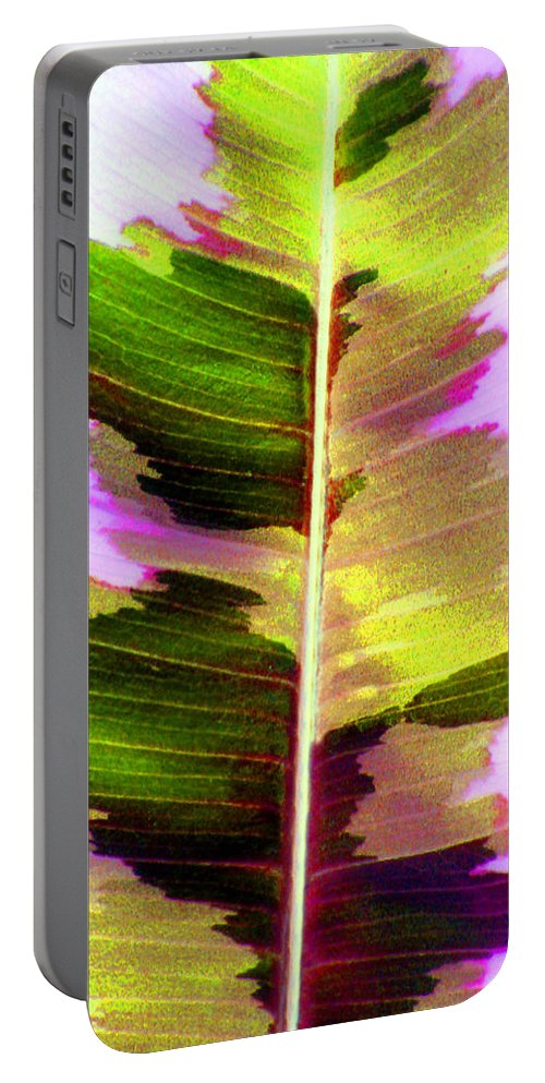 Leaf Portable Battery Charger featuring the photograph Chartreuse by Carolyn Stagger Cokley