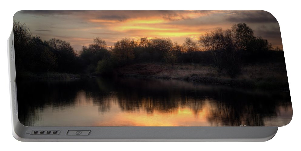 Brownhills Portable Battery Charger featuring the photograph Chasewater Sunrise by MSVRVisual Rawshutterbug