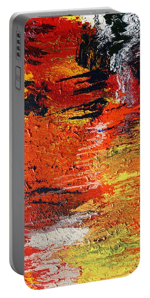 Fusionart Portable Battery Charger featuring the painting Chasm by Ralph White